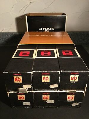 Set Of 6 Argus 80 Spill & Jam Proof Slide Trays With Boxes & Case 35mm Tray