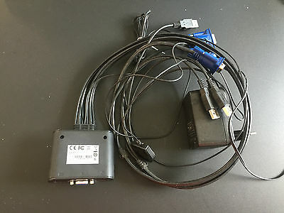 Aten 2 Port KVM Switch USB VGA Maus Tastatur CS22U neuwertig