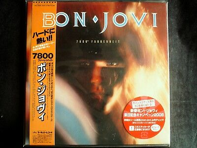 Bon Jovi - 7800° Fahrenheit Japan SHM-CD Mini LP OBI Brand New UICL-93002