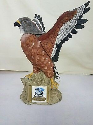 Ski Country Red Shouldered Hawk Whiskey Decanter 1972 Full Size Hand Painted