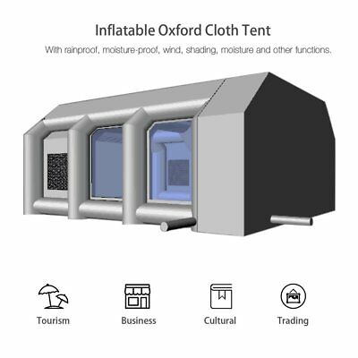 23ftx16ftx10ft / 7mx5mx3m Oxford Cloth Inflatable Car Spray Booth Paint Tent F7