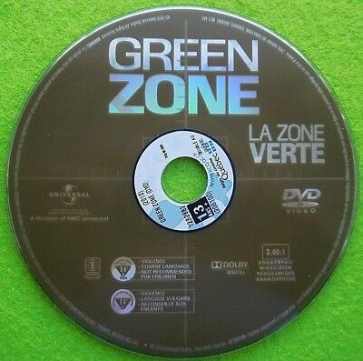 Green Zone - Dvd  Region 1 - Usa - English/French - Disc Only