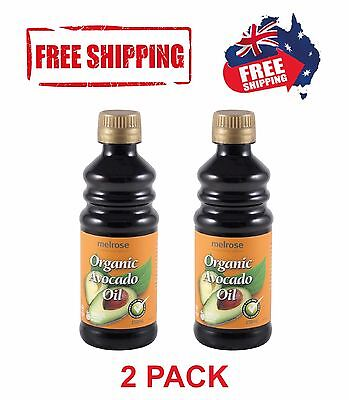 Melrose Avocado Oil|Certified Organic Carrier Oil|100% Pure|2 Pack|250ml Each