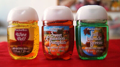 💚  Bath and Body Works PocketBac Sanitizers 3 - er Pack neu  Herbst 💚
