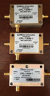 Mini Circuits Directional Coupler CPL-13DB-1 800Mhz - 2Ghz SMA 50 Ohm USED 3 Pcs