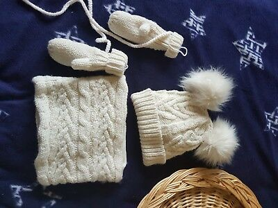 gap baby winter set hat snood gloves 9 month +