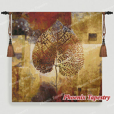 "LARGE Abstract Autumn Fine Art Tapestry Wall Hanging, Cotton 100%, 54""x54"", UK"