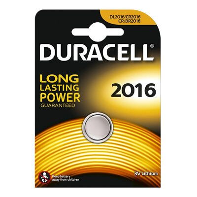 """New Duracell Single Carded 3V Lithium Coin Cell Long Lasting Battery """"Dl2016"""""""