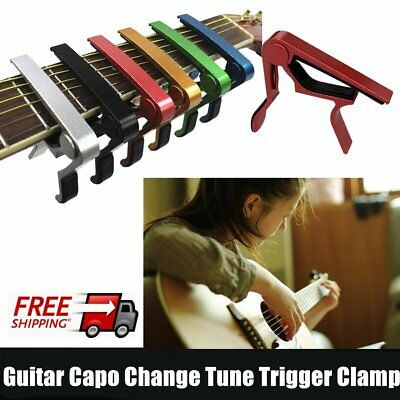 Acoustic Guitar Capo Quick Change Tune Trigger Clamp Key Tune Adjuster FK