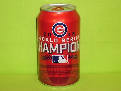 Budweiser 2016 Chicago CUBS World Champions Beer Can  ( INV. RED. SALE )