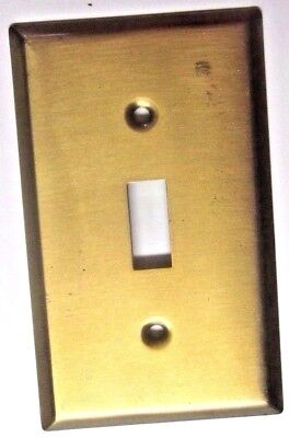 1 vintage retro satin bronze plated or dark brass switch wall plate cover