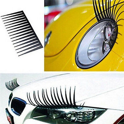 3D Headlight Eyelashes Double Black Car Accessories For Various Models Creative