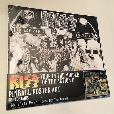 Kiss Pinball Poster Art Sealed Extremely Rare Nm