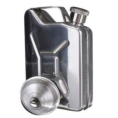 5oz Stainless Steel Jerry Can Hip Flask Liquor Whisky Pocket Bottle Travel Gift