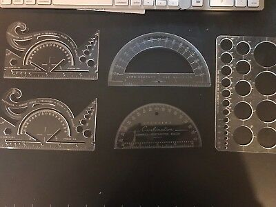 Five Sterling French Curve Geometry Is Protractor 582 Circle Stencil A Lot