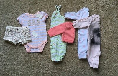 Baby Gap LOT of 6 items 0-3 months infant girl Summer Fall Spring NWT & EUC