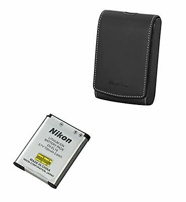 Nikon COOLPIX Camera S7000 Accessory Kit with EN-EL 19 Battery and Leather Case