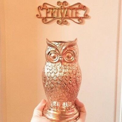 Rare Brand New Absolut Elyx Copper Owl Drinking Cup Collectable With Free Ship