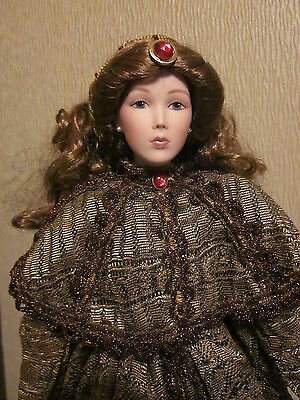 "Angelina Suchart Studio Porcelain Doll With Soft Body 22""  Rare Collectable"