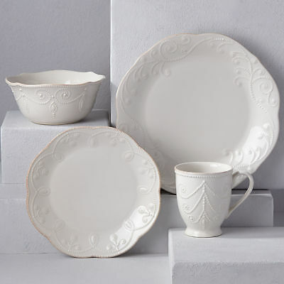 French Perle White 4-piece Place Setting by Lenox - Set of 4