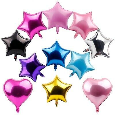 "5 X 18"" Love Heart Foil Balloons Helium Wedding Birthday Party Baby Shower Decor"