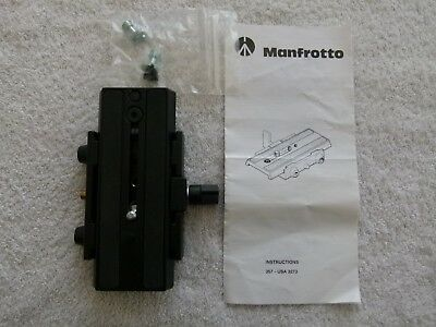 Manfrotto 357PLV Sliding base plate, genuine in very good condition.