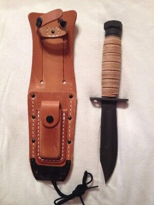 Brand New Ontario Knife Company 499 Pilot's Survival Knife With Leather Sheath
