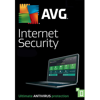 AVG Internet Security & Antivirus PRO 2019 3 Computers 1 Year Digital Download
