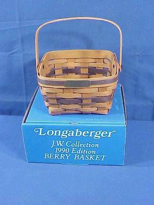 1990 LONGABERGER BERRY BASKET JW COLLECTION (New in Box)