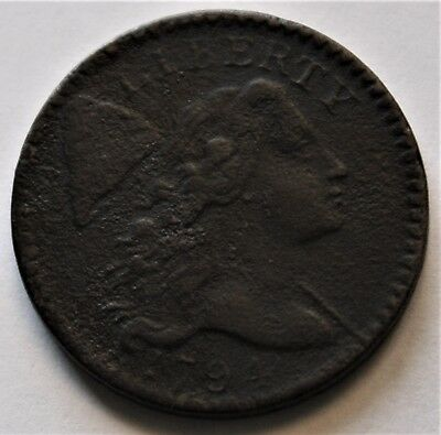 1794 LIBERTY CAP LARGE CENT,  VERY FINE (VF),  S-59, R3  (Combined Shipping)