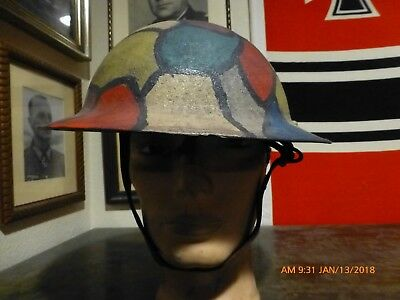 Original WWI Model M17 US Army Helmet with Camouflage Paint very good condition