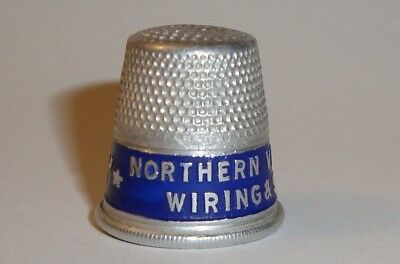 Vintage 1920's Aluminum Advertising Giveaway Thimble Northern Virginia Power Co