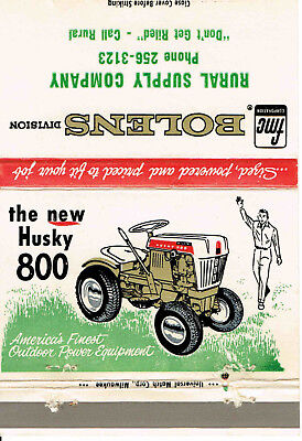 Bolens The New Husky 800 Lawn Tractor Garden Tractor Matchbook Cover