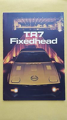 Triumph TR7 Fixed Head paper car brochure sales catalogue MINT Rover TR 7