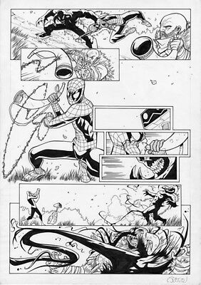 Marvel Spectacular Spider-Man UK # 178 Page 10 Original Art Venom