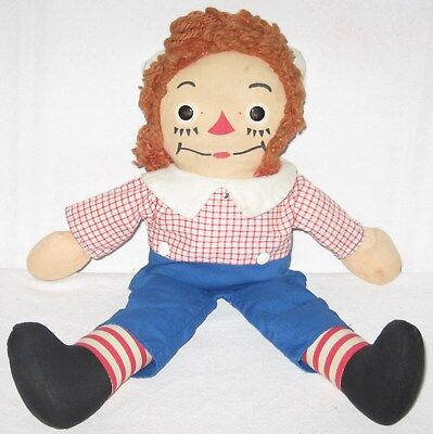 """Vintage 1945-1947 Georgene Raggedy Andy 16"""" Doll***made In The United States"""