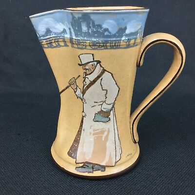 Royal Doulton Series Ware Coaching Party Old Bob Ye Guard PItcher Signed Noke