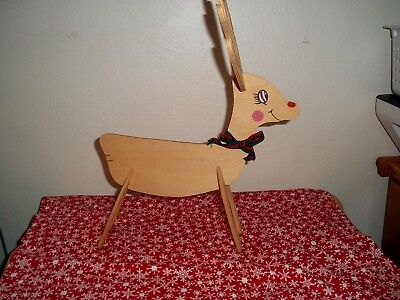 Handmade and Painted 4 pc. Put-Together Wooden Christmas Reindeer