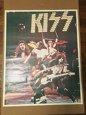 Kiss Poster From The Alive Era Very Rare Great Shape Ex