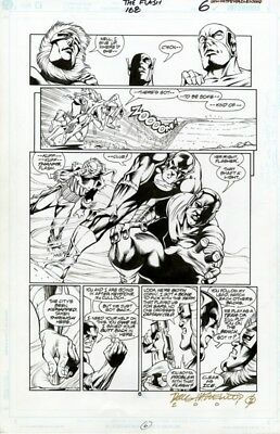 DC Flash # 168 page 6 Original Art Captain Cold and the Rogues