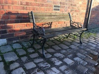Antique / vintage heavy cast iron Garden bench ends  ( several pairs available)