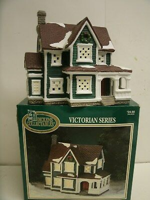 DICKENS COLLECTIBLES Victorian Series Green Porcelain house 266-6220