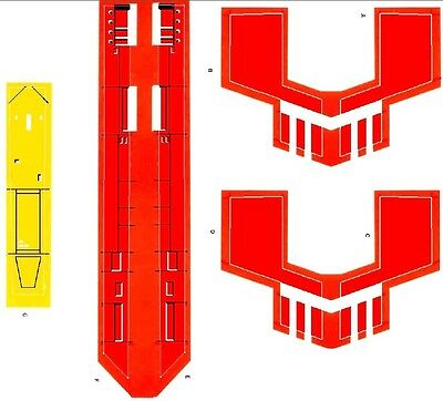 Replacement Sticker / Label Sheet For Vintage Kenner Star Wars X-Wing Fighter