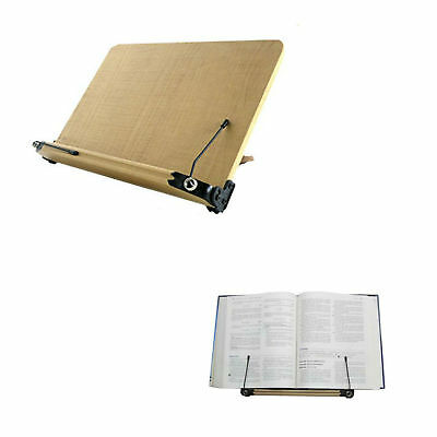 Book Stand Holder Wood Adjustable Folding Cookbook Bible Documents Reading Stand