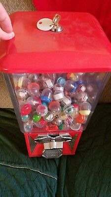 A&A Global Industries Toy Capsule vending machine .50 lock & key filled