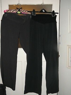 2 pairs smart maternity trousers size 14-16