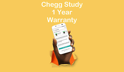 Chegg Study - 1YR Membership - Access to Textbook Solutions and Expert Answers