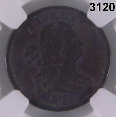 1804 Ngc Certified Draped Bust Half Cent Vg Details Environmental Damage #3120
