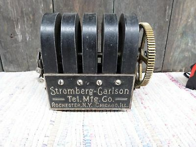 VINTAGE Antique STROMBERG CARLSON 5 bar Telephone Magneto untested
