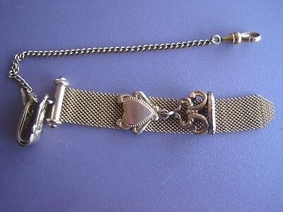 Vintage Antique Victorian Eastlake Pocket Watch Fob Chain
